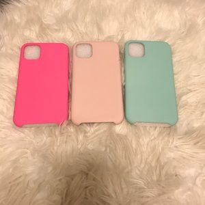 Brand NEW! 3 Piece Soft Silicone iPhone 11 Case